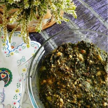 zapiekanka z ziemniakami ze szpinakiem i łososiem