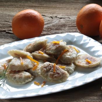Pierogi z gęsi z nutą pomarańczy i rozmarynu