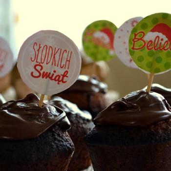 Gingerbread muffins z czekoladą