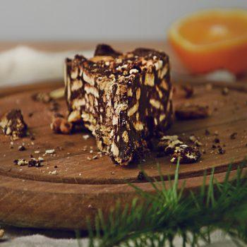 Blok czekoladowy bez masła, porcja