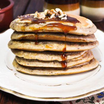 Pełnoziarniste pancake orzechowe